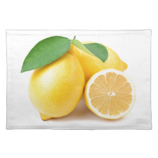 Bright & Fresh Yellow Lemons Placemat