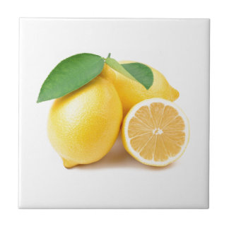 Bright & Fresh Yellow Lemons Tile
