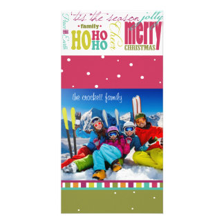 Bright Fun, Customizable Holiday Photo Card