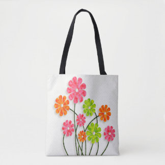 Bright Fun Flowers  - All Options Tote Bag