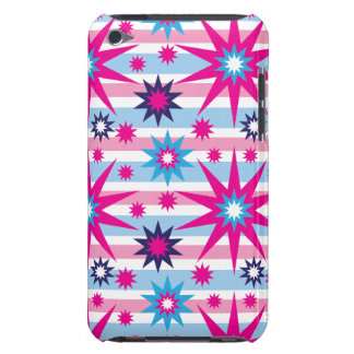 Bright Fun Hot Pink Blue Stars Snowflakes Striped iPod Touch Cases