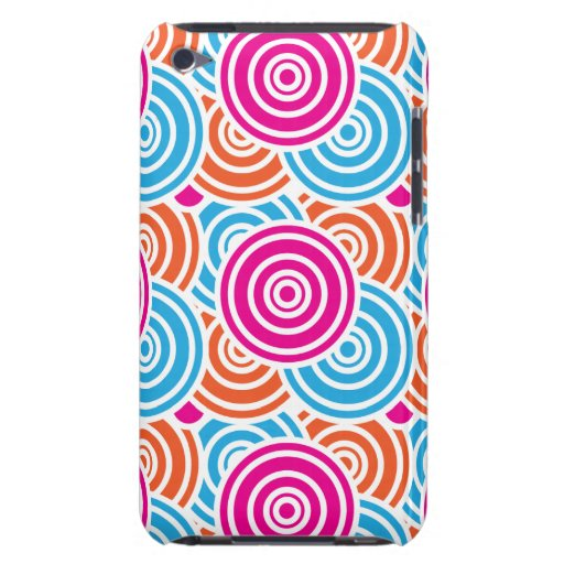 Bright Fun Layered Concentric Circles Pattern Gift Barely There iPod Cover