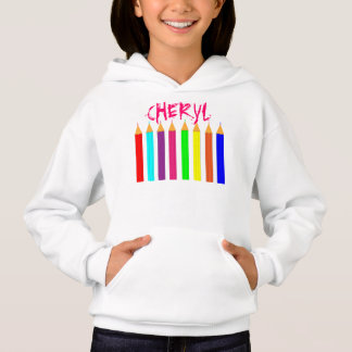 Bright Fun Rainbow Coloring Pencils Personalized