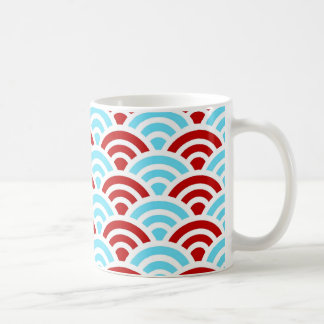 Bright Fun Teal Turquoise Red Arch Rainbows Gifts Coffee Mug