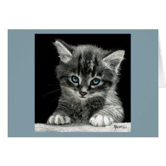 """Bright Future"" Kitten Card - Blue Background"