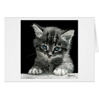 """Bright Future"" Kitten Card - White Background"