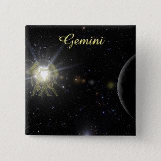 Bright Gemini 2 Inch Square Button