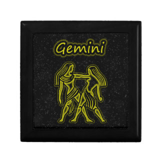 Bright Gemini Trinket Boxes