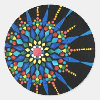 Bright Gemstone Mosaic on Black stickers