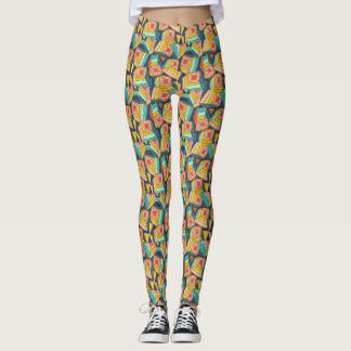 Bright, Geometric, Abstract Shapes Leggings