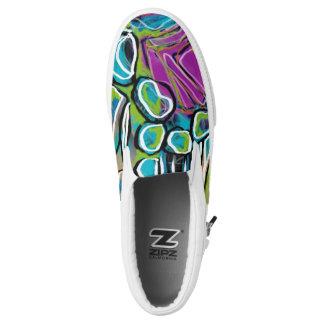 Bright Geometric Art Shoes