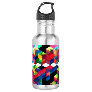 Bright Geometric Diamond Pattern 532 Ml Water Bottle