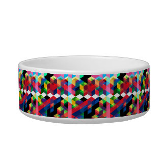 Bright Geometric Diamond Pattern Bowl