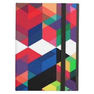 Bright Geometric Diamond Pattern iPad Air Cover