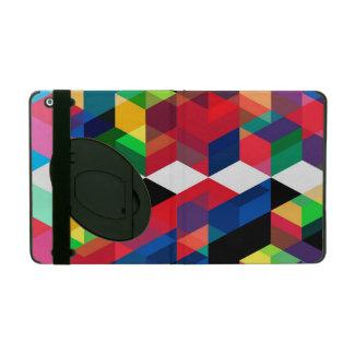 Bright Geometric Diamond Pattern iPad Cover