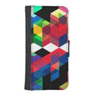 Bright Geometric Diamond Pattern iPhone SE/5/5s Wallet Case