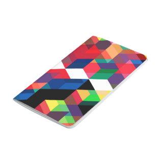 Bright Geometric Diamond Pattern Journal