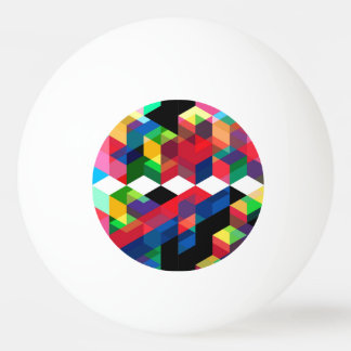 Bright Geometric Diamond Pattern Ping Pong Ball