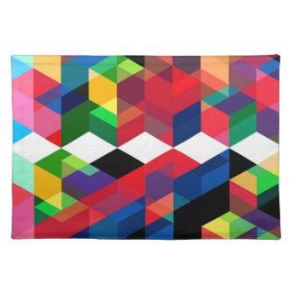 Bright Geometric Diamond Pattern Placemat