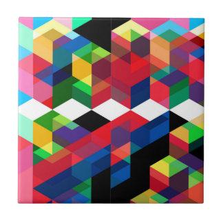 Bright Geometric Diamond Pattern Tile