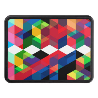 Bright Geometric Diamond Pattern Trailer Hitch Cover