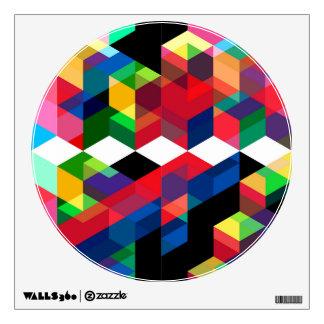 Bright Geometric Diamond Pattern Wall Sticker