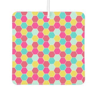 Bright Geometric Hexagon Pattern Car Air Freshener