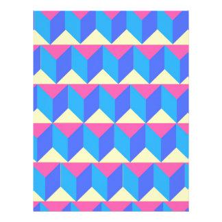 Bright Geometric Print Letterhead