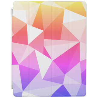 Bright geometric rainbow triangles pattern cover