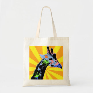 Bright Giraffe Pop Art Illustration, Colorful