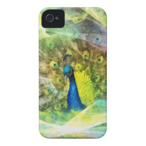 Bright girly pretty peacock bird dreamy nature iPhone 4 cover
