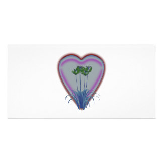 Bright Glowing Flowers Photo Greeting Card