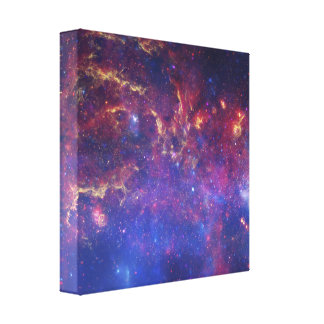 Bright Glowing Galaxy in Outer Space Canvas Print