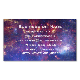 Bright Glowing Galaxy in Outer Space Magnetic Business Card