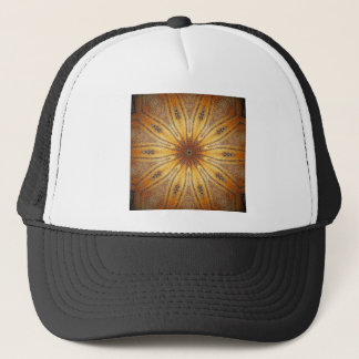 Bright Gold Ancient Mandala Design Trucker Hat