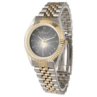Bright golden Aries Watch