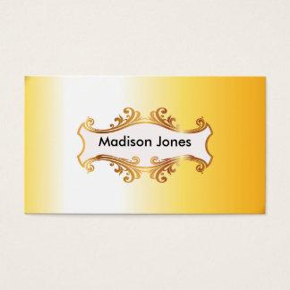 Bright golden business card
