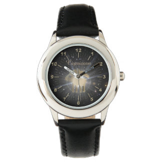 Bright golden Capricorn Watches