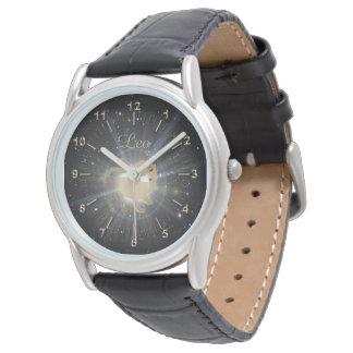 Bright golden Leo Wrist Watch