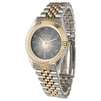 Bright golden Libra Wrist Watch