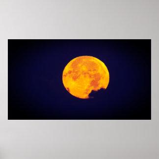 Bright Golden Moon Poster
