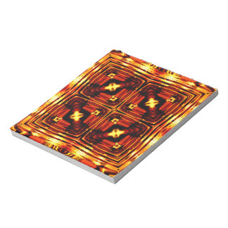 Bright golden waves notepad