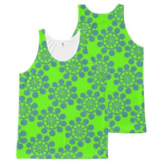 Bright Green and Blue Bubble All-Over-Print Tank Top
