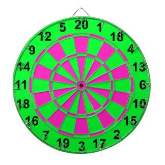 Bright Green and Pink Dartboard