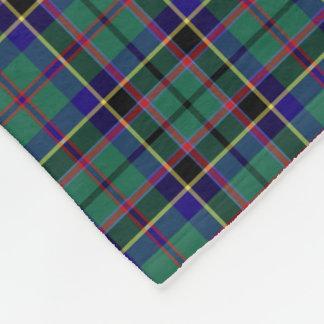 Bright Green and Royal Blue Stevenson Clan Tartan Fleece Blanket