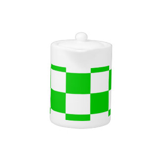 Bright Green and White Checkerboards