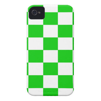 Bright Green and White Checkerboards iPhone 4 Case