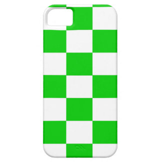 Bright Green and White Checkerboards iPhone 5 Covers