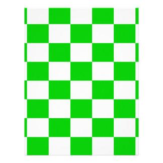 Bright Green and White Checkerboards Letterhead