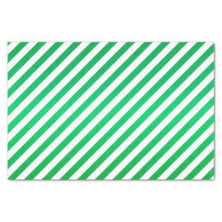 Bright Green and White Stripes Tissue Paper